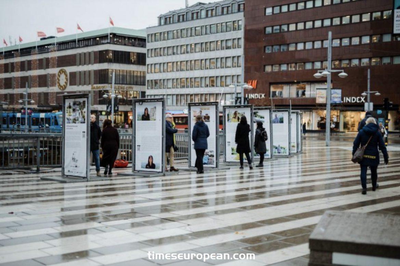 兒童與種族滅絕展覽在斯德哥爾摩中心開幕