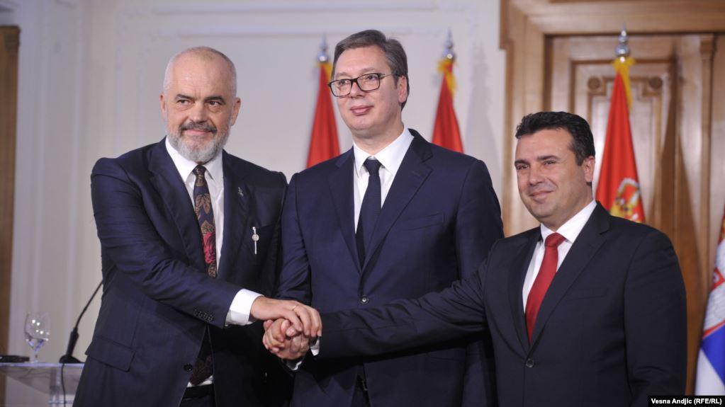"""拉瑪、武契奇、扎耶夫將在斯科普里第 7 屆峰會上重命名""""迷你申根"""""""